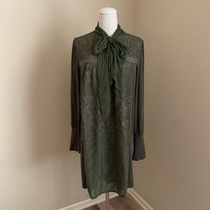 Tiny by Anthropologie olive green dress tunic
